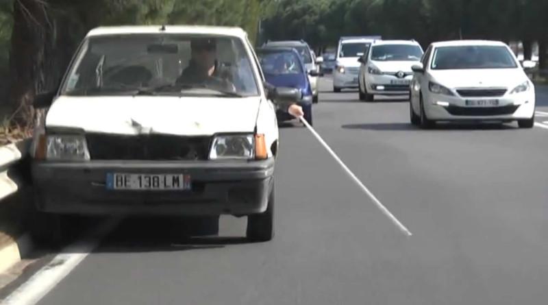 blind man driving prank