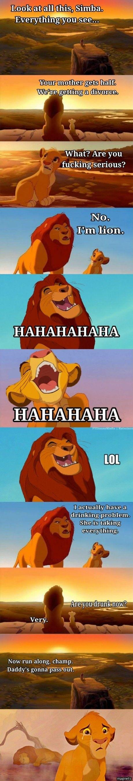 Lion King Funny Comic on Cute Quotes Pics And Sayings